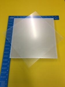 8 1 8 Thick Clear Cast Acrylic Lucite Sheet 12 x12 Lot Of 8