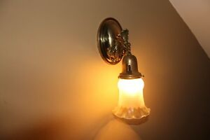 Vintage Sconce Art Deco Light Fixture Bulb Style Brass Wall Sconce