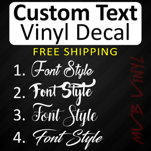 Cursive Vinyl Decal Sticker Script Window Custom Personalized Lettering 628