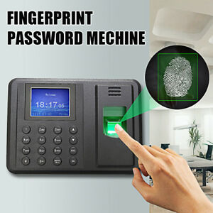 Dc 5v 1a Usb Password Fingerprint Attendance Employee Time Recorder Clock Us