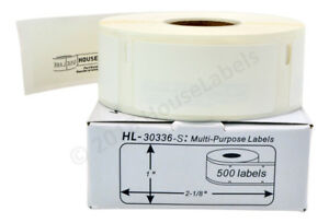 6 Rolls 3 000 Labels Polypropylene Synthetic Waterproof Dymo Labelwriters 30336
