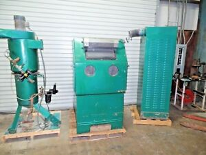 Clemco Zero Sandblaster With Cyclone And Filter 34x34x36 Cabinet