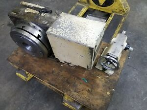 Tsudakoma Rb 300r 12in 4th Axis Rotary Table With 3 jaw Chuck And Tailstock