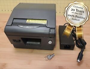 Star Tsp800ii Thermal Printer W Ethernet Lock Power Supply great Condition