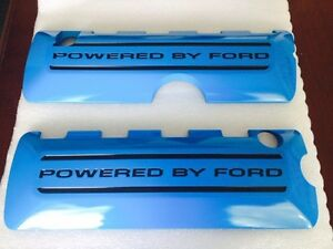 2011 2017 Mustang 5 0 Ford Oem Coil Covers Painted Grabber Blue Black Letters Ci
