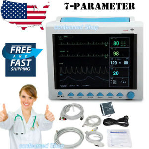 Fda Portable Vital Sign Patient Monitor Multiparameter Icu Ccu Monitor Usa New