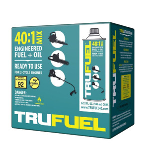 Trufuel 40 1 2 Cycle Portable Fuel Stabilizer Steel Container 6 Pack Pre Oil Mix
