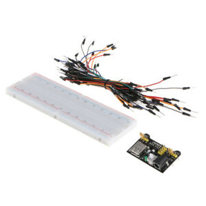 Solderless Prototype Pcb Breadboard With Power Supply Module And Jumper Wire