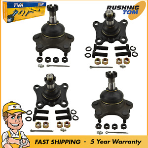 New 4 Pc Front Upper Lower Ball Joints For Toyota T100 4runner 4wd