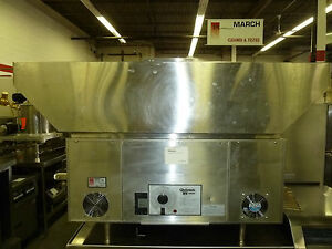 Holman star Qt14 Conveyor Sandwich Warmer W Hood Refurbished