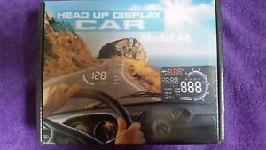 5 5 Car Hud Head Up Display Digital Speedometer Projector Obd Ii Speed Warning