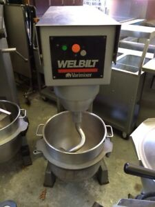 Varimixer W60 60 Quart Mixer With Stainless Steel Bowl And Hook Refurbished