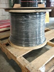 Pvc 18 Awg Lamp Cord Wire 2 wire 5000 Ft Spool Black Ul Approved