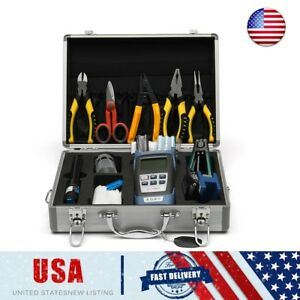 25pcs Rs901 Fiber Optic Ftth Tool Power Meter Fc 6s Optical Cleaver Pliers Kit