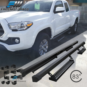 Fits 16 18 Toyota Tacoma Access Cab Trd Pro Oe Style Running Boards Nerf Bar