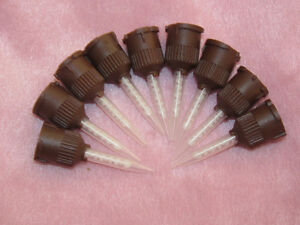 100 Pcs Dental Brown Temporary Cement Mixing Tips 1 1 Ratio