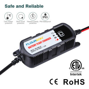 6v 12v 2a Battery Float Charger Maintainer Automobile Motorcycle Truck Led Light