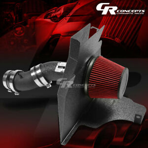 Black Wrinkle Finish Cold Air Intake Heat Shield For 11 14 3 7l Ford Mustang V6