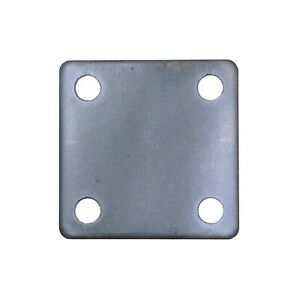 Steel Flat Square Metal Base Plate 3 X 3 X 3 16 Thickness 3 8 Hole Qty 4