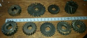 Lot Of Metal Saw Milling Cutters Plastic Vinyl Used Machinist Tool Forming Used