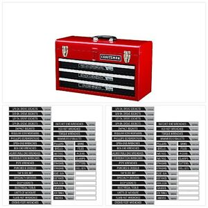 Craftsman Magnetic Labels For Tool Box Or Storage Unit Organize