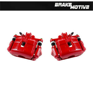 Front Red Brake Calipers For Acura Rsx Type S Honda Civic Sedan Si 2 0l S2000