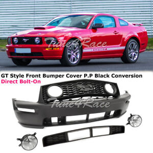 For 2005 2009 Ford Mustang Gt Conversion Front Bumper Fog Lamp With Lower Grille