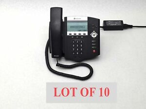 Lot 10 Polycom Ip450 Ip 450 Voip Soundpoint Sip Business Office Phone Telephone
