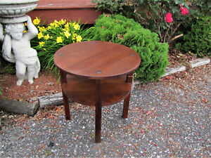 Rare And Early Antique L Jg Stickley Coffee Lamp Table W5319