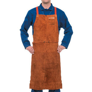Leather Bib Apron 24 In X 36 In Lava Brown