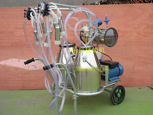 Double Tank Electric Vaccuum Pump Milking Machine For Cows sheep Shipped By Sea
