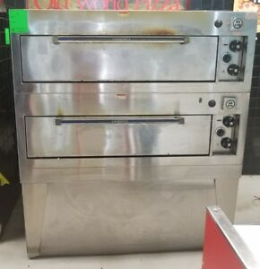 Hobart Hcn50p Double Deck Electric Pizza Baking Oven