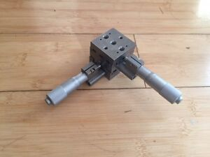 Newport 461 xy Stage ultralign With 13mm Travel Micrometers just Reduced