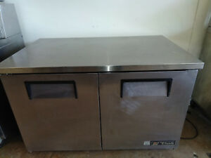 Used True 48 Under Counter 2 Door Refrigerator Tuc 48 Cooler Commercial