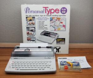 Brother Py 75 Portable Personal Type Electronic Typewriter Retro 80s