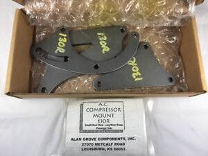 Alan Grove 130r Steel Bracket Sb Chevy A C Air Compressor Mount Ps Sbc Lwp 69