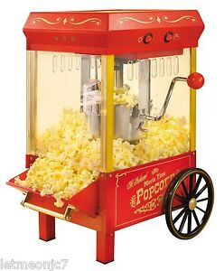 Vintage Kettle Popcorn Maker Machine Cart Stand Commercial Or Home Movie Theater