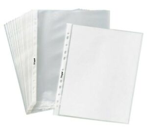 1000box 11 Hole Non Glare Matte Top Loading Poly Office Page Sheet Protectors 8