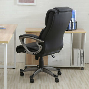 High end Graceful Pu Leather Executive Chair Black Home Office Furniture