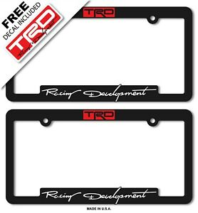 Trd Toyota Racing Development License Plate Frame Tacoma 4 Runnertundra 86 Supra