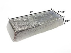 Rotometals Lead Free Pewter Alloy R 92 Casting Ingot 92 Tin 8 Antimony