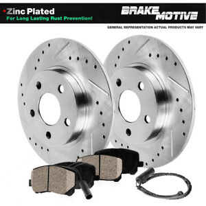 Rear Drill Slot Brake Rotors Ceramic Pads For Mercedes Benz Ml430 Ml500 W163