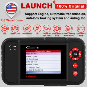 Launch Creader Viii Obdii Auto Code Reader Abs Srs Car Scanner Diagnostic Tool