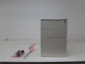 Merax Solid Metal Mobile File Cabinet traffic White Wf020733