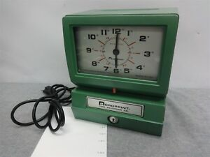 Acroprint Model 150 Green Heavy duty Time Recorder Clock 150er3