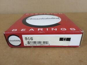 Consolidated Precision Bearings 916 Single Direction Thrust Ball Bearing