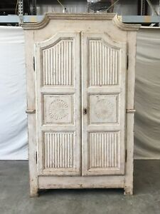 18th C Italian Antique Painted Armoire
