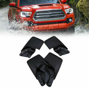 For 16 18 Toyota Tacoma Splash Guards Mud Flaps Mudguard Black Front Rear 4pcs
