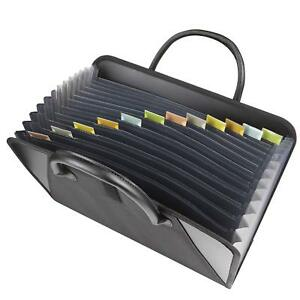 Expanding File Folder Organizer Portable Storage Document Holder 13 Pockets Bag