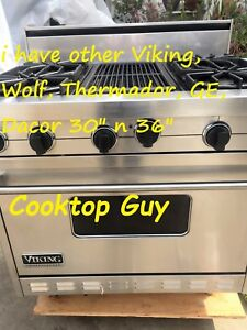 Viking 36 Pro Stainless Range 4 Grill Or 6 Gas In Los Angeles Extended Ov